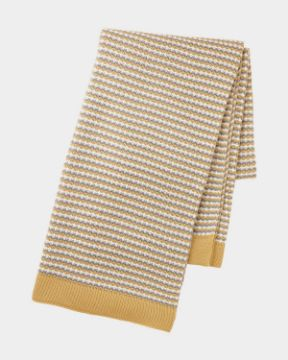 Picture of Yellow Knit Throw Blanket