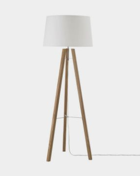 Picture of Wooden Tripod Floor Lamp